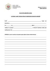 Formulario de reclamación